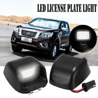 2x LED License Number Plate Light White Lamp For Nissan Navara Frontier Suzuki
