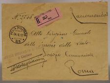 POSTA MILITARE *23* 24.9.1917 RACCOMANDATA TIMBRO 4° CORPO D'ARMATA #XP353C