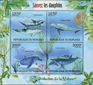 Dolphins Stamp Stenella Frontalis Tursiops Truncatus S/S MNH #2610-2613