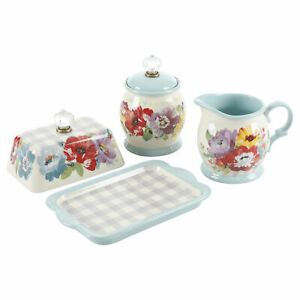 The Pioneer Woman Sweet Romance Butter Dish + Cream and Sugar Set NWT
