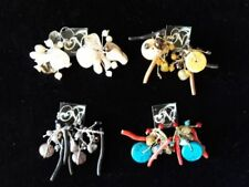 Pearl Shell Coral Costume Earrings