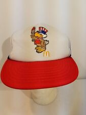 "Vintage McDonald's 1984 ""Sam the Olympic Eagle"" Mesh Snap Back Trucker Hat Cap"