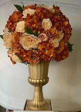 Roman poly Gold Urn Vase Wedding ceremony flowers 60cm urn.