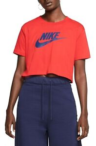 Nike NSW Essential Crop Tee (Red) large  wh2