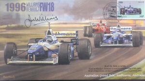 1996a WILLIAMS-RENAULT FW18s & FERRARI F310 F1 Cover signed DAVID WILLIAMS