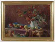 """Anton Wrabetz (1876-1946) """"Autumn Still Life"""", Oil on Canvas, 1920s"""