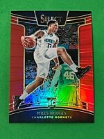 2018 Panini Select Miles Bridges Red Prizm Concourse Rookie #ed 3/199 HORNETS RC