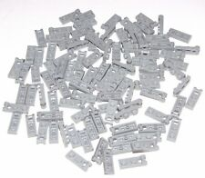 Lego Lot of 100 New Light Bluish Gray Plates Modified 1 x 2 with Handle on End