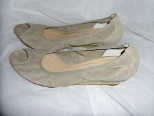 DUNE WOMEN'S NUDE SUEDE LEATHER SLIP ON SHOES SIZE UK 8  EU 41 VGC