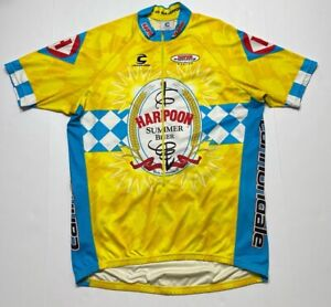 Harpoon Summer Beer Cannondale Mens Cycling Jersey Multicolor Yellow Zip XL