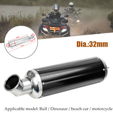 32mm CNC Motorbike Exhaust Pipe Muffler Silencer Elbow Slip On For Dirt Bike ATV