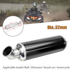 32mm CNC Motorbike Exhaust Pipe Muffler Silencer Elbow Slip On For Dirt Bike ATV
