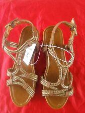Hart Wedge Gladiator Sandals summer.Cherokee - Brown size 5