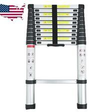 12.5FT Step Ladder ExtensionTelescoping Lightweight Portable Folding Telescopic