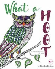 Coloring Book Adult Animal Art Hoot Owl Stress Relieving Therapy Relax Kid Child