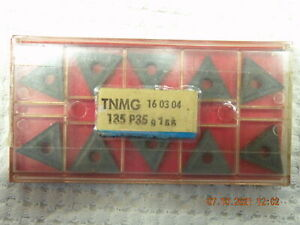 x10 Sandvik TNMG 160304 135 P35 Carbide inserts new