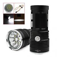 SKYRAY 25000 LM 10 x CREE XM-L T6 LED Torcia Flashlight 4 x 18650 Hunting Lamp