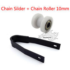 Chain Slider White 10mm Pulley Tensioner Chain Roller For Pit Dirt Trail Bike