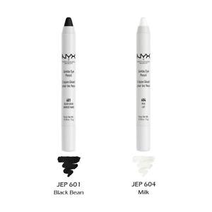 """2 NYX Jumbo Eye Pencil Set - JEP """"601 Black Bean & 604 Milk"""" *Joy's cosmetics*"""