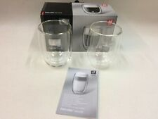 200ml ZWILLING Sorrento Double Wall Glass Coffee Glasses Clear J.A.HENCKELS