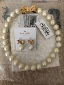 Kate Spade All Wrapped Up In Pearls Necklace & Earring Set