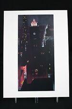Georgia O'Keeffe Art Print New York, Night 16x12 Book Print 1976 RARE