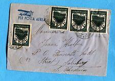 EGEO P.AEREA  PITTORICA £.1 x 4 ann.RODI, 30.07.36 per SALISBURY  (252197)