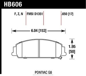 Hawk Performance HB606Z.650 Stable Friction Output Disc Brake Pads