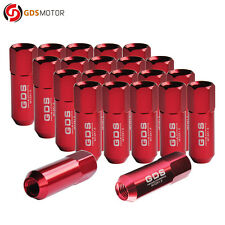 New listing Gds 20pcs Red 60mm Aluminum Lug Nuts M12x1.5 for Ford Focus Fusion Fiesta
