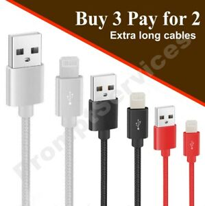 USB Quick Charging & Data Sync Cable Lead For iPhone 6 7 8 X XR 11 12 Pro Max