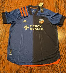 Adidas FC Cincinnati Soccer Jersey Mens XXL New NWT blue orange MLS 2XL NWT $130