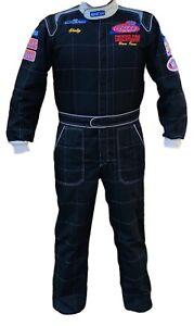 Sparco CIK-FIA Kart Rally Race Racing Suit Black Men's Sz Large