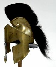LEONIDAS 300 HELMET WITH PLUME ~ KING LEONIDAS 300 MOVIE  HELMET ~ ARMOR HELMET