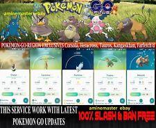 Pokemon Go Catching Regionals: Pachirisu Chatot Carnivine Tropius ..etc same day