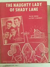 """""""The Naughty Lady of Shady Lane"""" Vintage Sheet Music, Ames Brothers on Cover"""