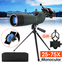 Target Shooting Spotting Scope 25-75X70 Telescope Monocular Tripod Phone Adapter