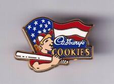 Rare Pins Pin'S . Vintage Art Advertising Cadbery'S Cookies Baseball France ~Us