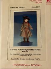 Vintage F.G. Child - Authentically Period Dated Dress And Coat Doll Pattern