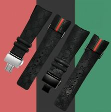Replacement for i gucci watch band strap YA114 series Black and 4 screws