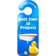 Bath In Session Do Not Disturb Door Hanger - Sign Time Progress Hanging