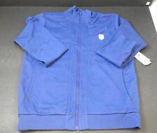 New Men's K-Swiss Purple Long Sleeved Jacket Cotton Blend Casual Sports Large G2