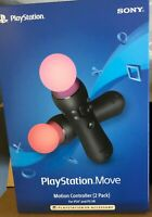 Sony PlayStation Move Motion Controller 2 Pack 4 PS4 & PS VR CECH-ZCM2U