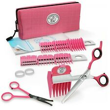 SCAREDY CUT + TINY TRIM Silent Pet Grooming Kit for Sensitive CATS, PINK COMBO
