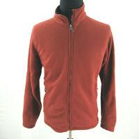 REI Polartec Thermal Pro Fleece Zip Jacket Mens Large Rust Red