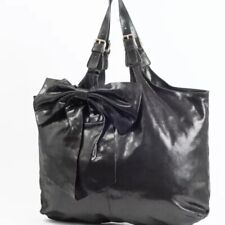 VALENTINO RED BLACK  LEATHER LARGE BOW XL BAG NEW
