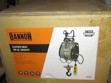 Electric Cable Hoist Bannon Compact 790-Lb. Capacity, 124ft. Lift, 220-240 V,