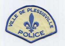 Ville de Plessisville Police, Quebec, Canada HTF Vintage Uniform/Shoulder Patch