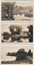 Rare Rppc Lot - Pultneyville Ny 1915 Real Photo - Williamson - 3 Postcards