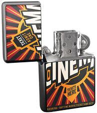 Pocket Windproof Lighter Brushed Oil Refillable  Cinema tickets