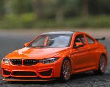 BMW M4 GTS 1:24 Scale Diecast Toy Car Model Die Cast Miniature Orange